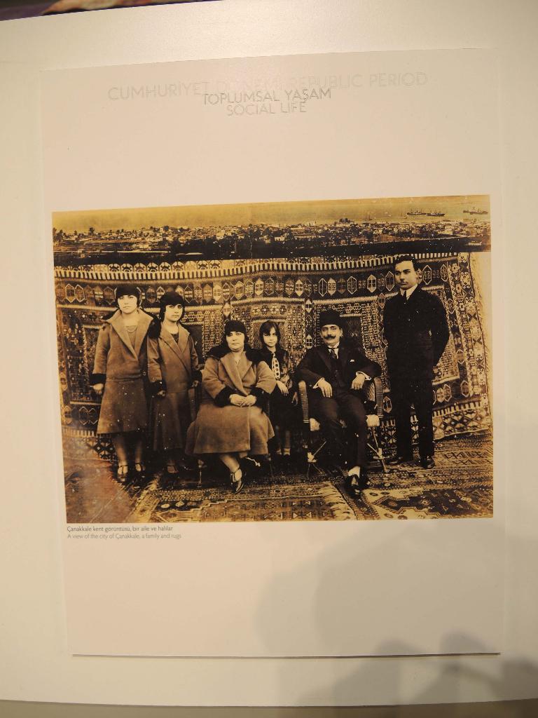 Familifotografi fra den tyrkiske byen Canakkale
