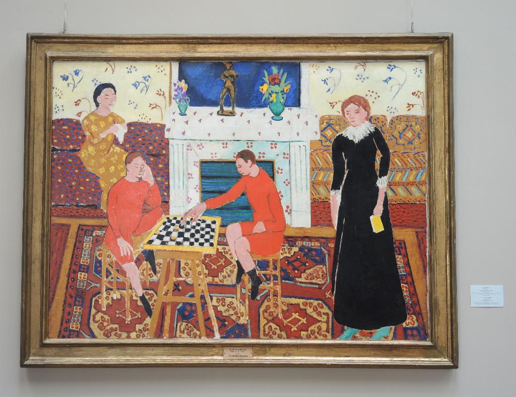 ri av Henry Matisse - med et turkmensk Ersari-teppe
